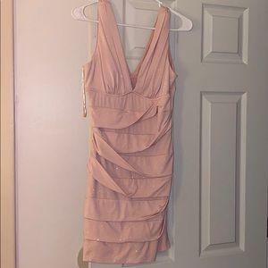 Size L baby pink/champagne/blush party dress